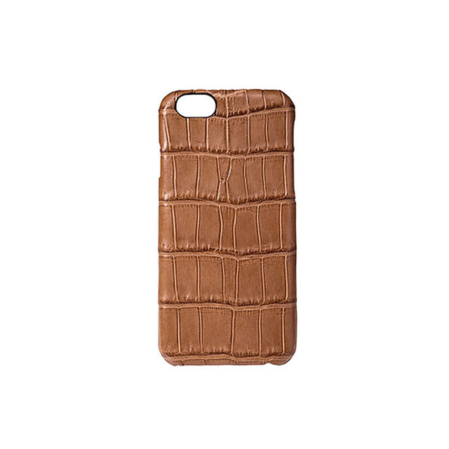 GRAMAS Meister Crocodile Case MI8014 for iPhone 6s / iPhone 6  CAMEL - メイン画像