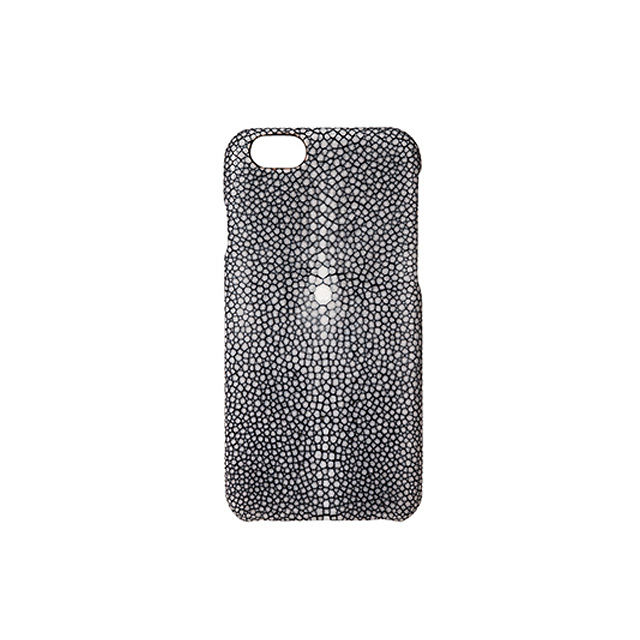 GRAMAS Meister Galuchat Case MI8004 for iPhone 6s / iPhone 6 BLACK - メイン画像