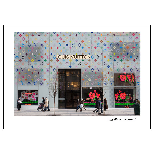 Reproduction Poster_NYC Windows_LouisVuitton
