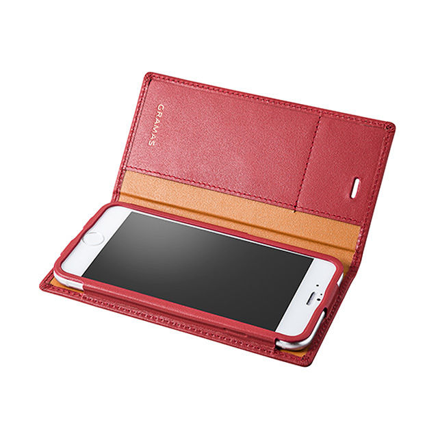 GRAMAS Full Leather Case LC644 for iPhone 6s Plus / iPhone 6 Plus  RED - メイン画像
