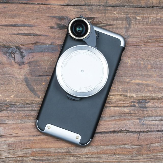 【FOR IPHONE 7 PLUS】REVOLVER LENS CAMERA KIT - SILVER EDITION