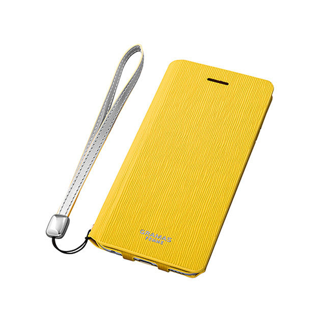 "GRAMAS FEMME Flap Leather Case ""Colo"" FLC215P for iPhone 6s Plus / iPhone 6 Plus YELLOW - メイン画像"