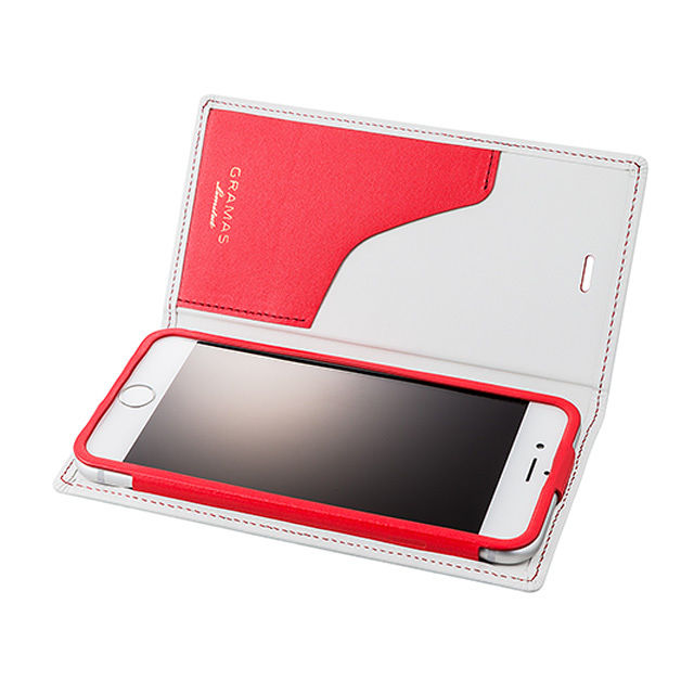 GRAMAS Full Leather Case Tricolor Limited LC644PL3 for iPhone 6s Plus / iPhone 6 Plus WHITE×RED - メイン画像