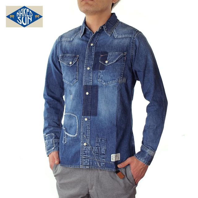 017003001(DENIM WESTERN SHIRTS)USED-SP7S