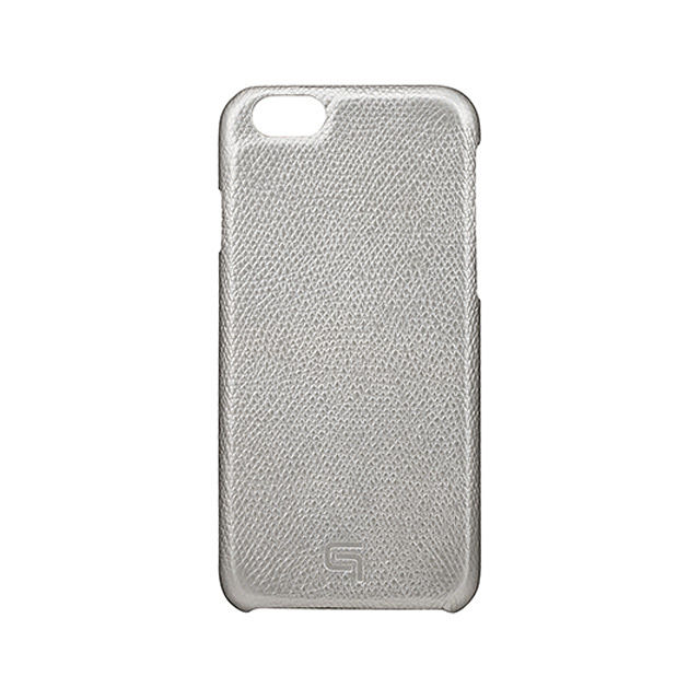 GRAMAS Embossed Grain Leather Case GRLC8076 for iPhone 6s / iPhone 6 SILVER - メイン画像