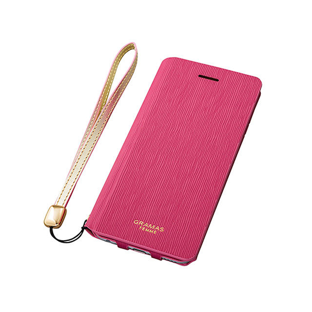 "GRAMAS FEMME Flap Leather Case ""Colo"" FLC215P for iPhone 6s Plus / iPhone 6 Plus PINK - メイン画像"