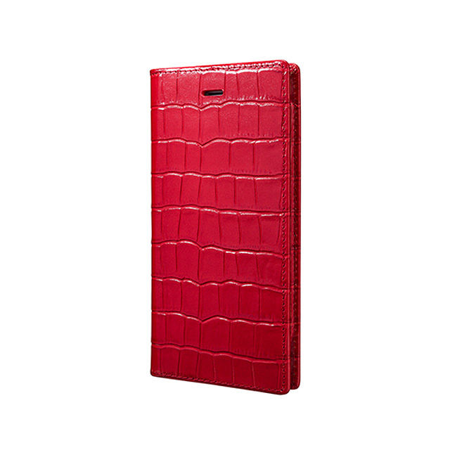 GRAMAS Crocodile Patterned Full Leather Case LC815 for iPhone 6s / iPhone 6 RED - メイン画像