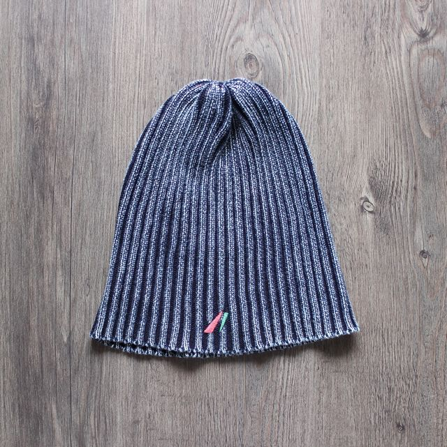 washed beanie navy
