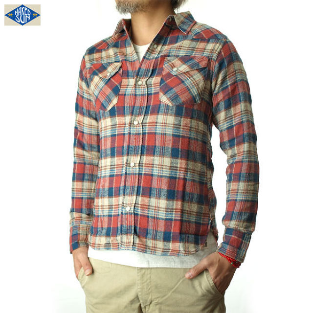 015003002(CHECK WESTERN SHIRTS)RED