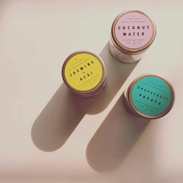 Urban Outfitters printed tin candle