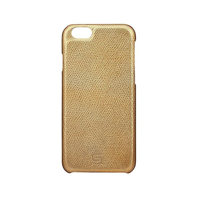GRAMAS Embossed Grain Leather Case GRLC8076 for iPhone 6s / iPhone 6 GOLD - メイン画像