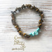 ◆SALE ¥1,000◆ Power Stone Bracelet -Tiger's-eye&Turquoise-