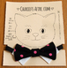 Bow Tie Cat Collar by ChariotAfire (Black w/ Pink Dot)