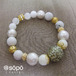 088. power stone jewelry bracelet -oriental white-