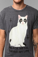 Black Metal Kitty Tee by urban outfittes