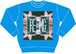 FLOWER PATTERNS SWEAT-Turquoise Blue-