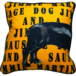 Jimmie Martin Cushions Orange Graphic sausage dog [BACK]