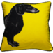 Jimmie Martin Cushions Yellow sausage dog [FRONT]