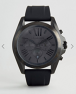 Michael Kors MK8560 Silicone Watch In Black