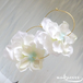 Girly Flowers  Pierce -White-