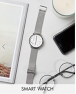 「スマートウォッチ」Skagen Hagen Mesh Connected Smart Watch In Silver