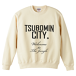 TSUBOMIN / TSUBOMIN CITY CREWNECK SWEAT NATURAL