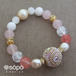 【再販!】048. power stone jewelry bracelet -pink-