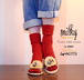【MILKY SOCKS SERIES 】 COLOR<CHERRY> NEW !