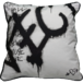 Jimmie Martin Cushions Grey Graffiti