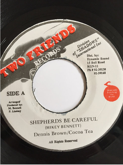 Cocoa Tea(ココティー) & Dennis Brown(デニスブラウン) - Shepherd Be Careful【7inch】