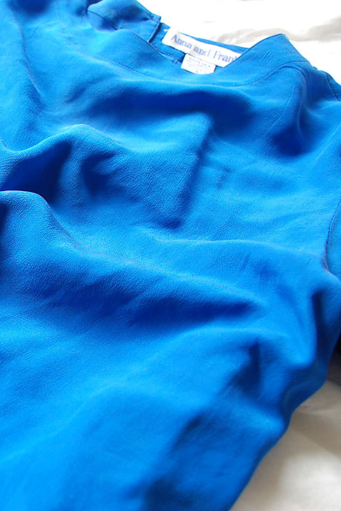 Silk blue blouse