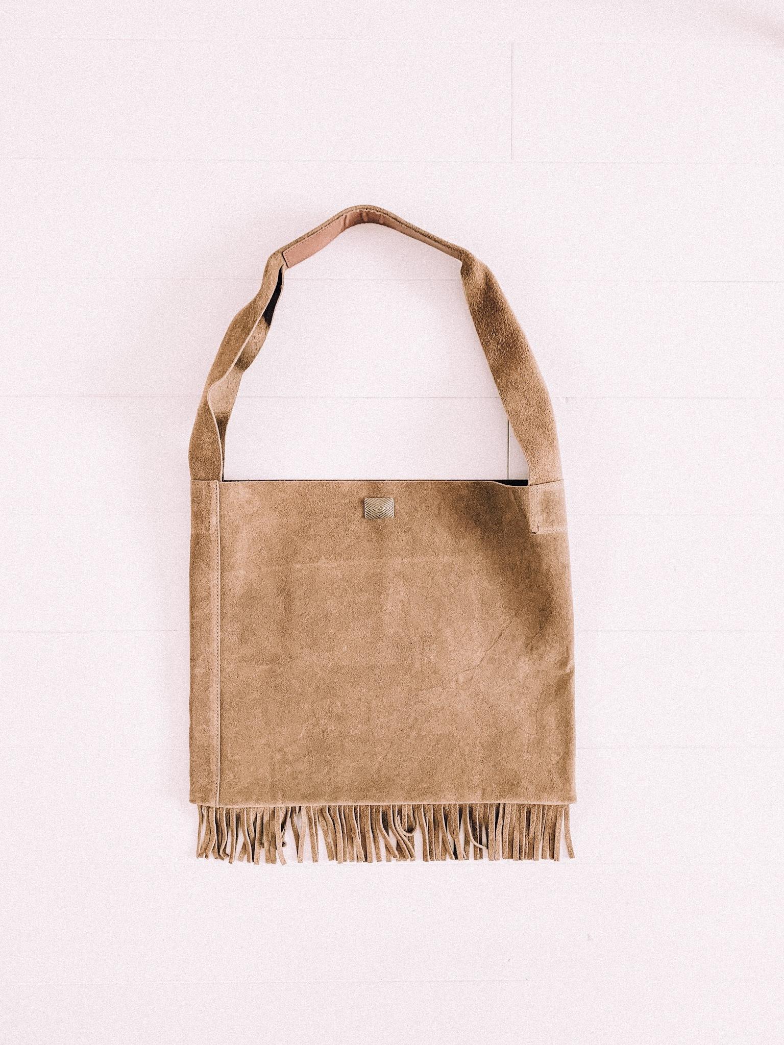 native fringe bag  -sand-