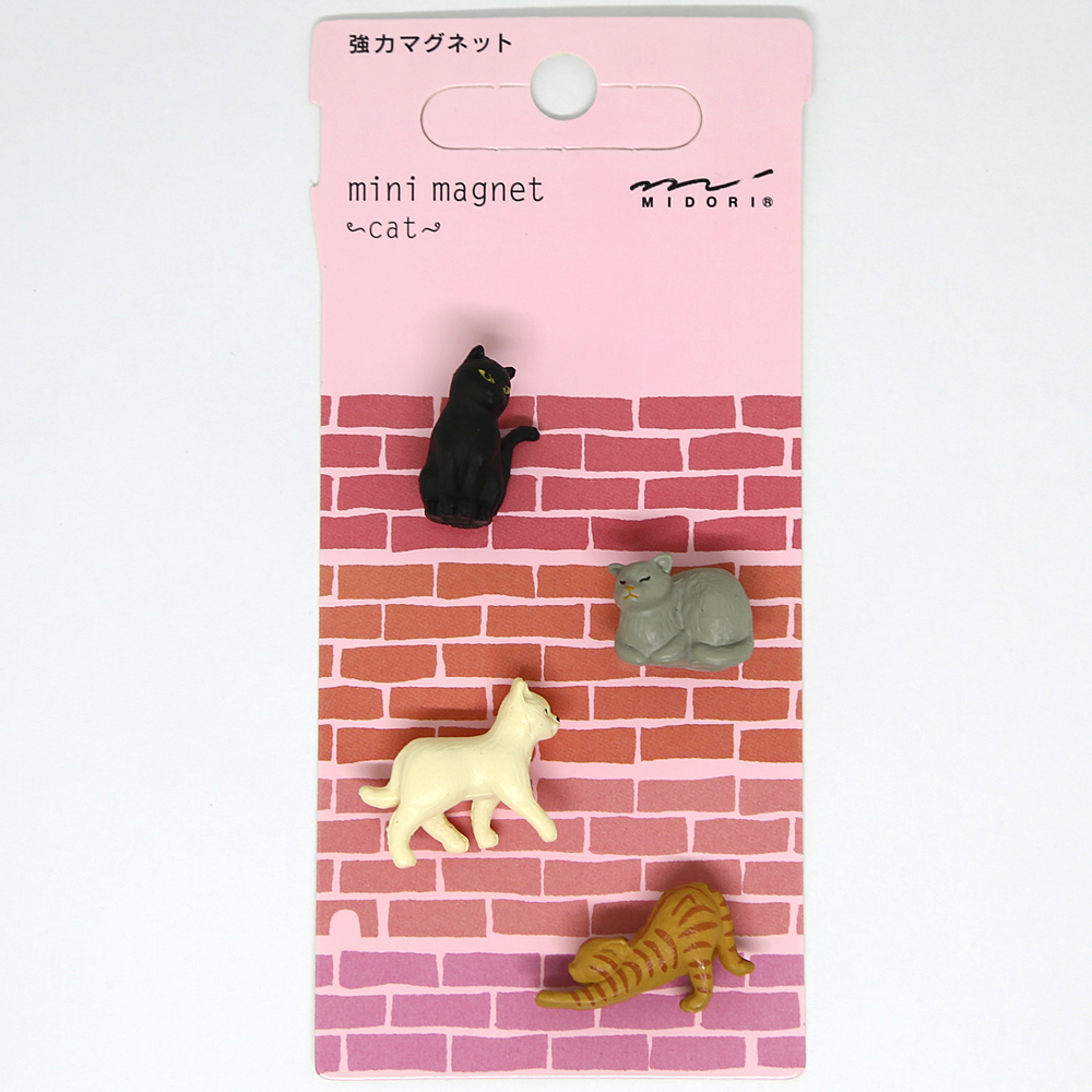 猫マグネット(ネコモチーフ強力マグネット)