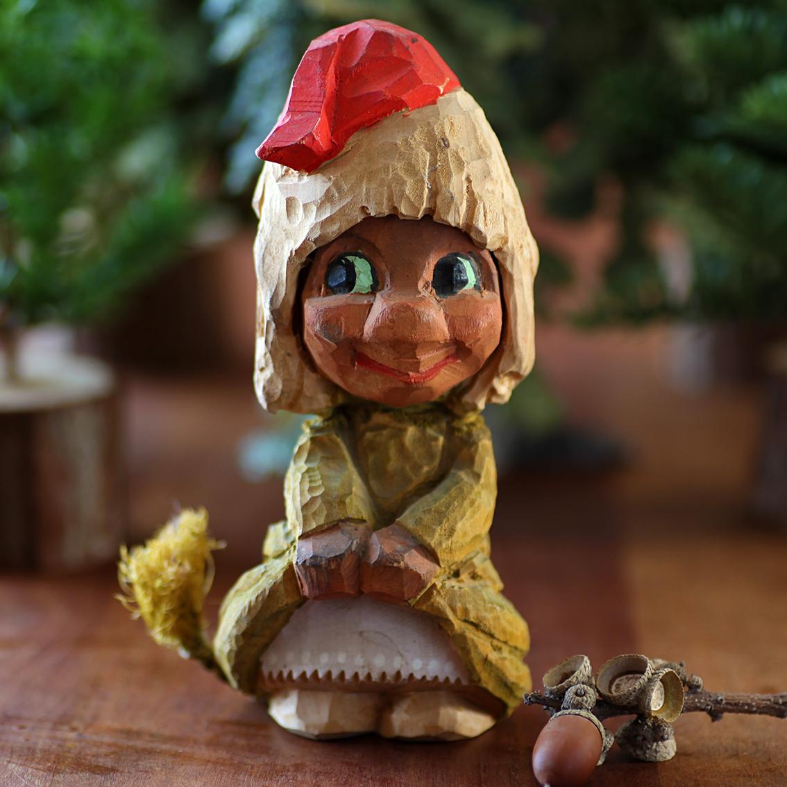 Henning ヘニング Troll トロール 木彫り人形-5 北欧ヴィンテージ
