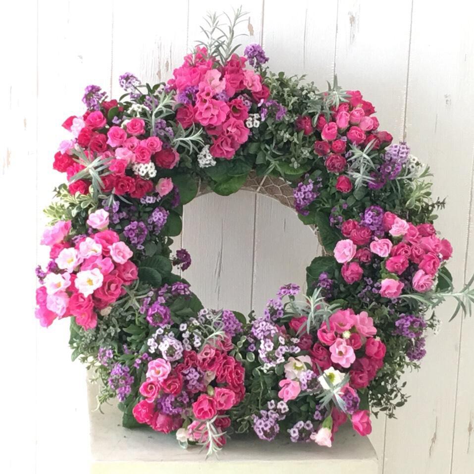 季節の花で作るオーダーメイドゴージャスリース - 画像1