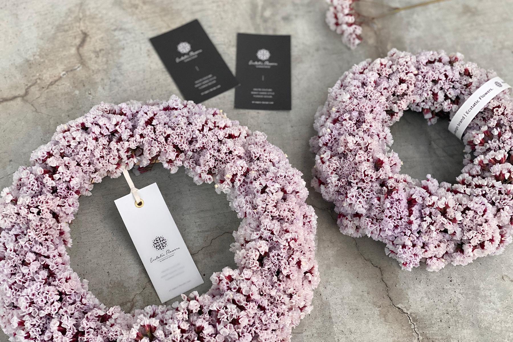 Statice Wreath S | スターチス シンジーシルバー リース