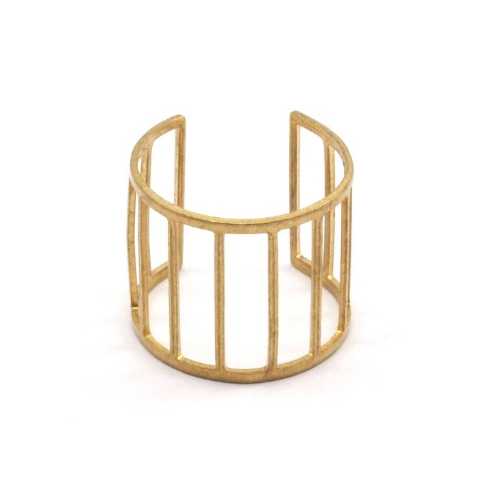 Raw brass Rings -  Ladderリング  RG-013