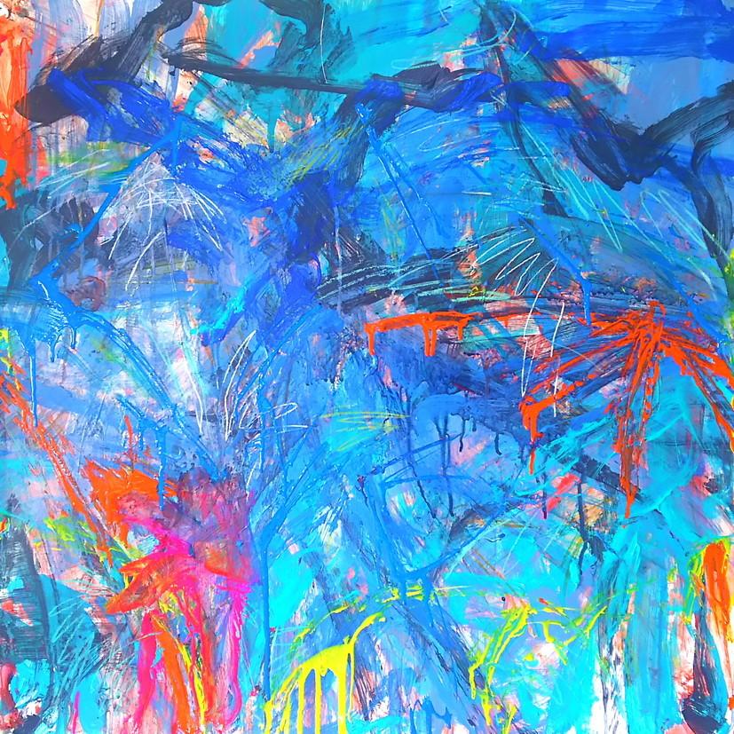 絵画 インテリア アートパネル 雑貨 壁掛け 置物 おしゃれ 抽象画 現代アート ロココロ 画家 : tamajapan 作品 : t-13