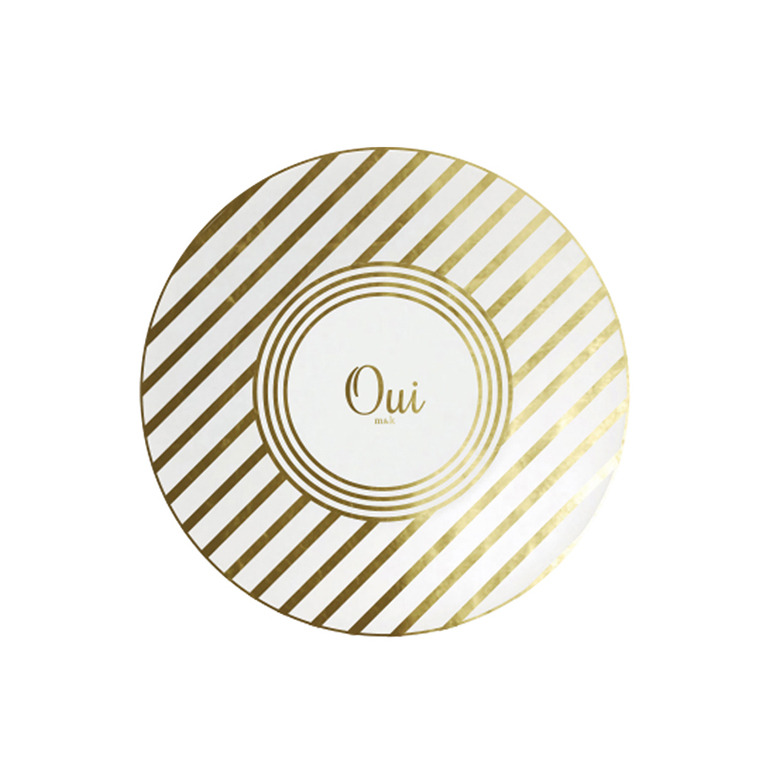 Oui on Double Stripe Plate