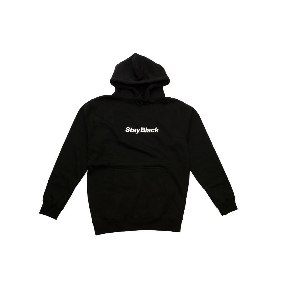 Stay Black Original Logo Hoody - Black