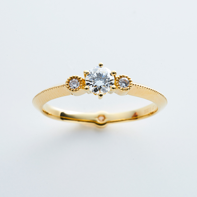 H&C Diamond with Double Happiness Ring / K18YG