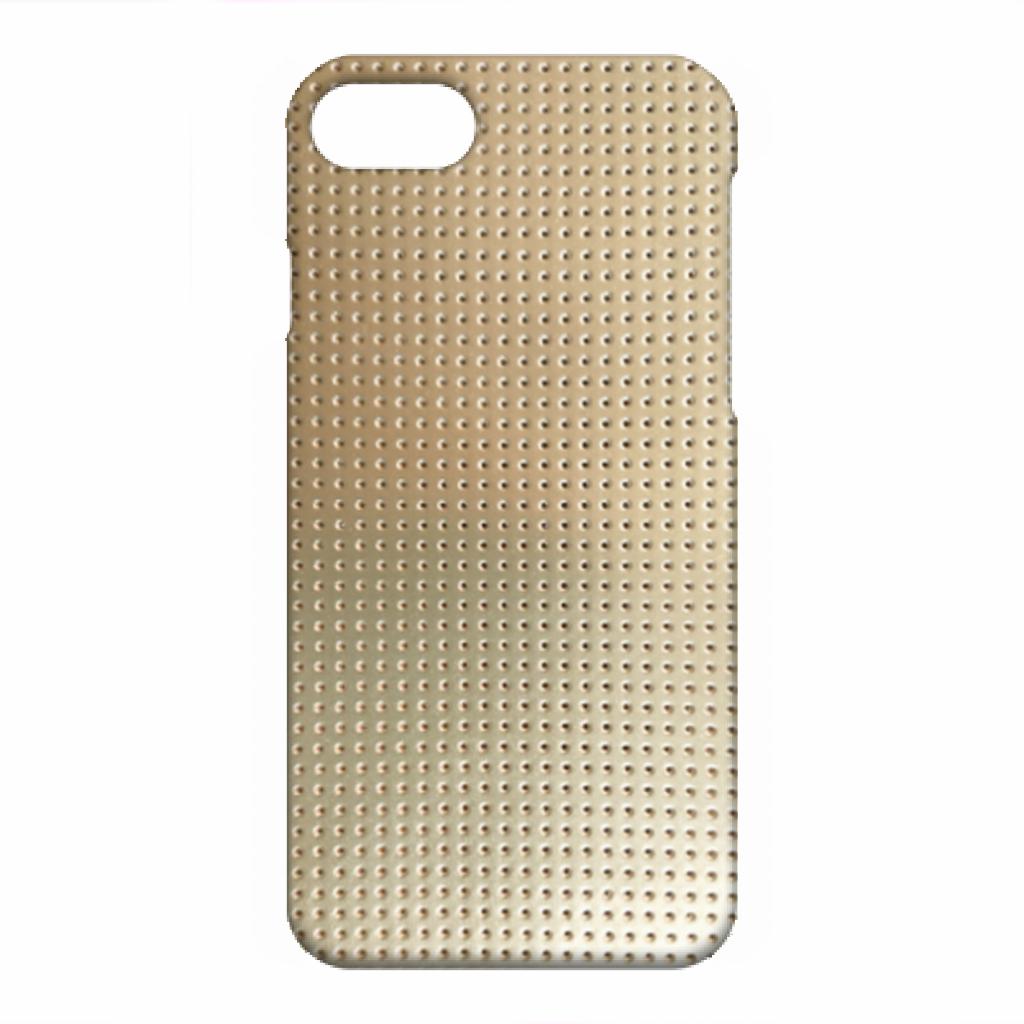 ツヤあり iPhone SE(第2世代) iPhone 8 iPhone 7 ハードカバーケース ☆ ライトゴールド