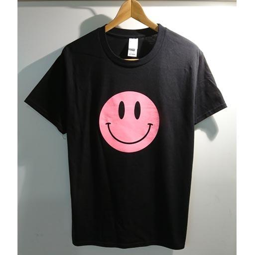 SMILE Tシャツ ブラック×ピンク