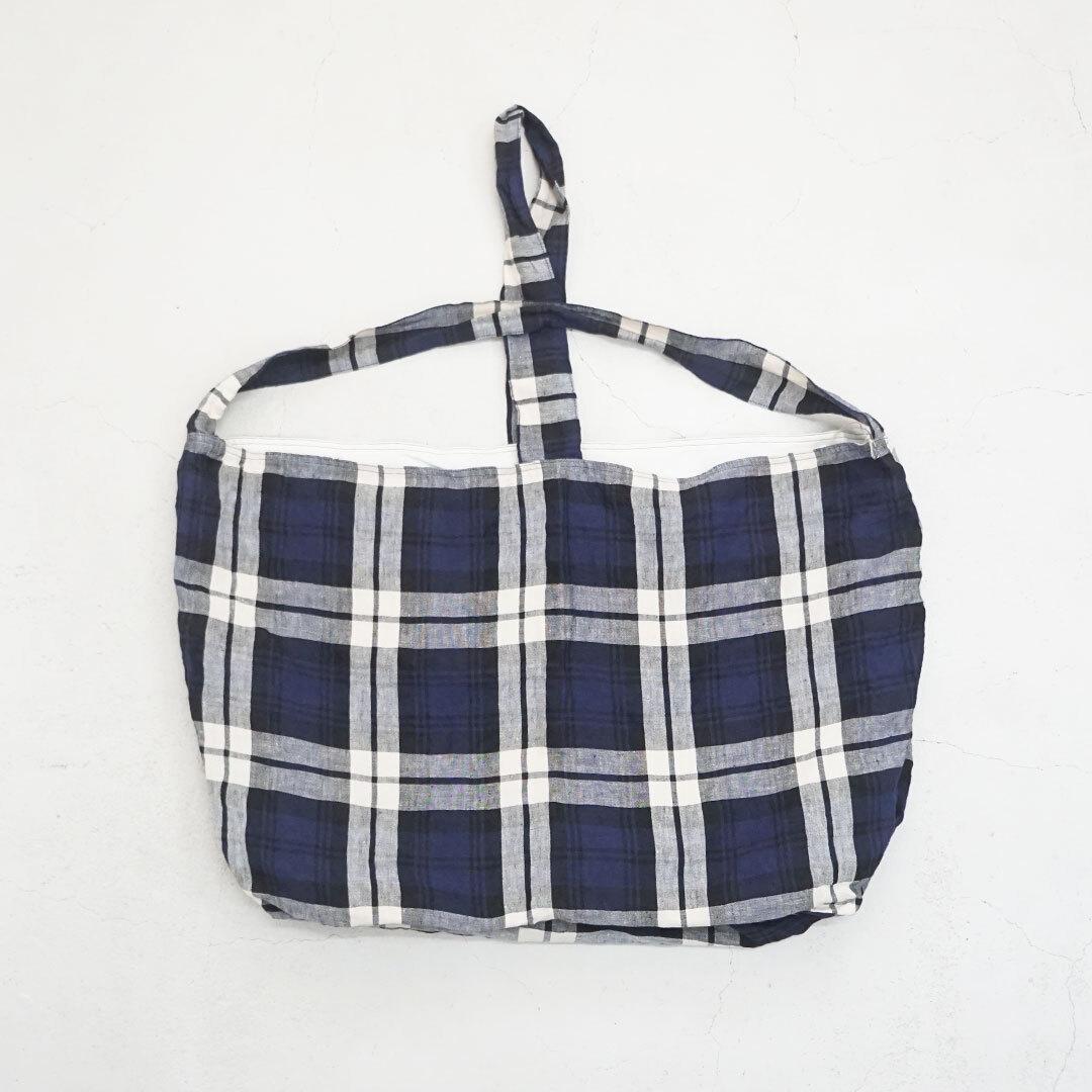 【再入荷なし】 ICHIAntiquites イチアンティークス LINEN TARTAN CHECK BAG リネンタータンチェックバッグ (品番600321)