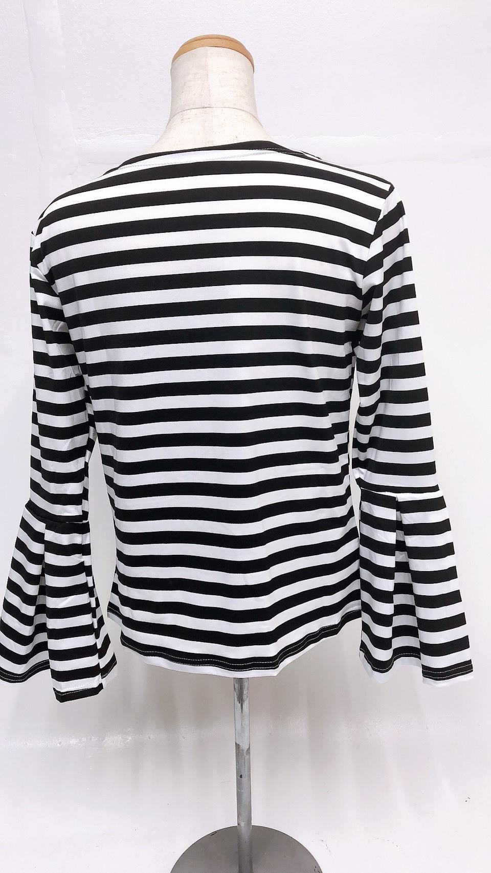 【在庫限り】レバラロングTシャツ[ボーダー]
