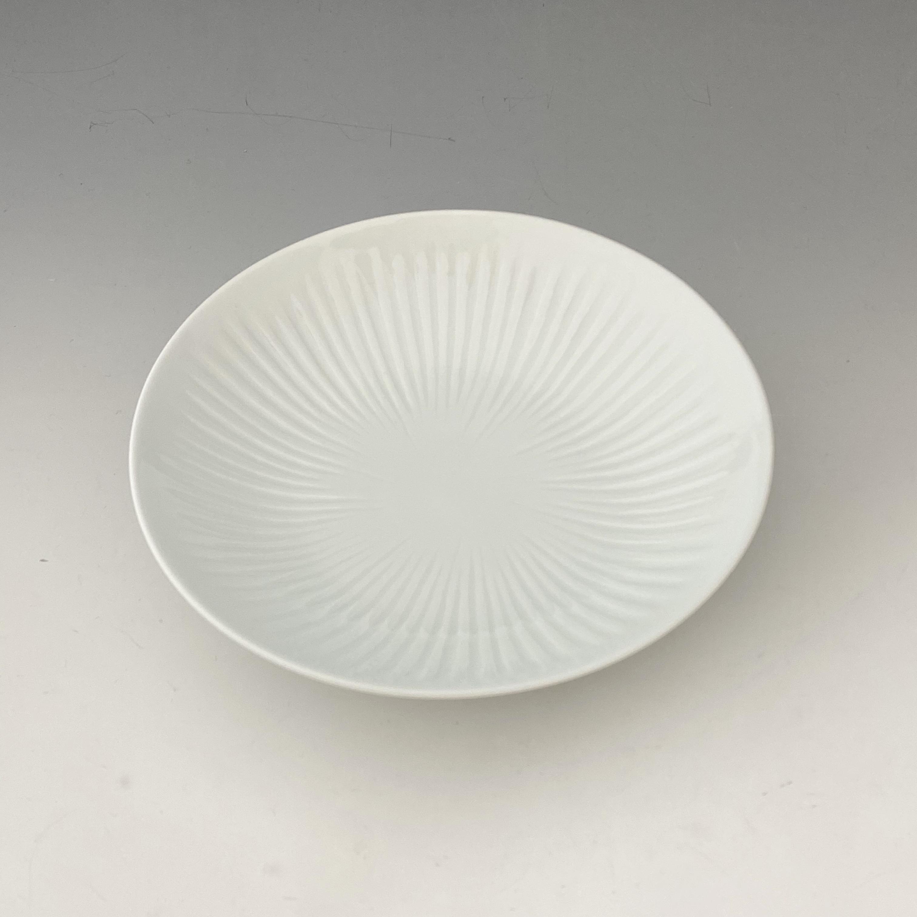 【中尾純】白磁線彫皿