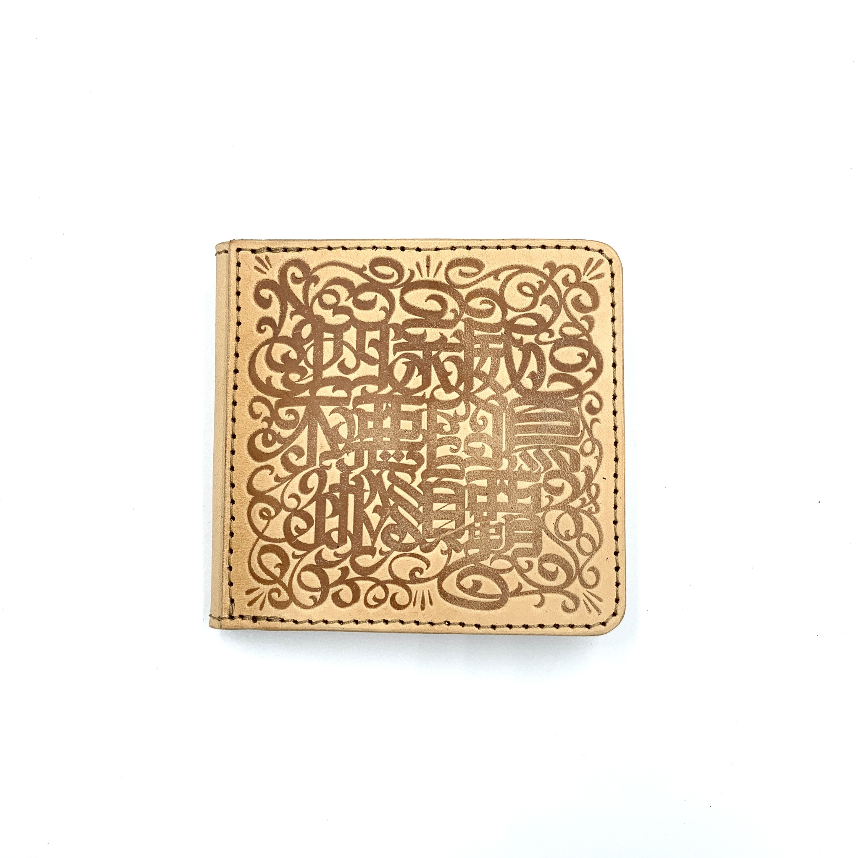 《CASPER× YONZY factory》BOX小銭入れショート財布 生成り