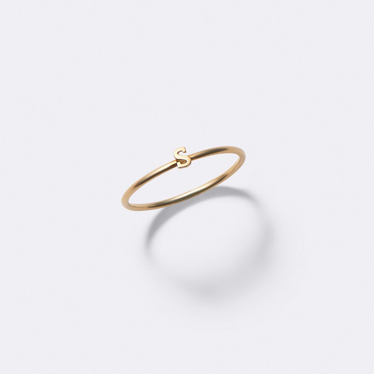 Initial Ring K10YG(イニシャルリング K10イエローゴールド)