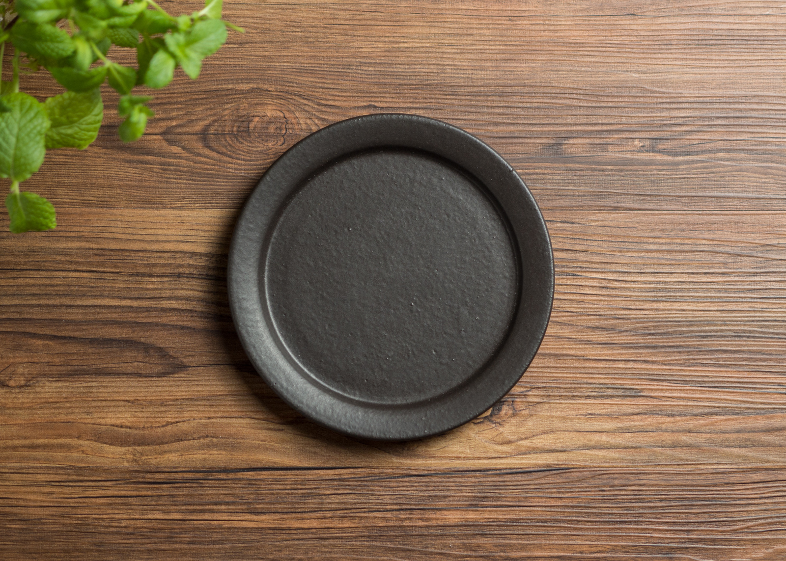 SHIROUMA 洋皿 18cm 黒(中皿・パンプレート・デザート皿)/長谷川 哲也