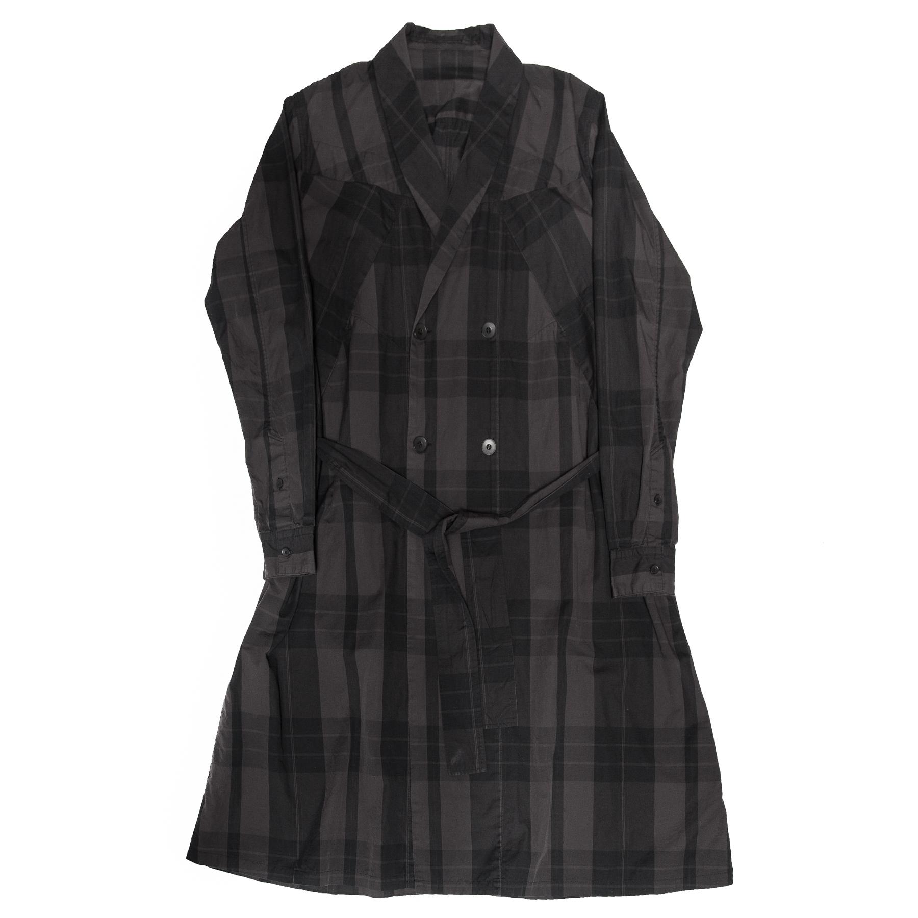 617SHM2-BLACK / ランダムパターンガウンシャツ